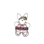 Scrapbook Customs - Rubber Stamp - Bear and Bunny Ballet Set