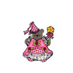 Scrapbook Customs - Rubber Stamp - Bear and Bunny Princess Costume Set