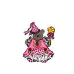 Scrapbook Customs - Rubber Stamp - Bear and Bunny Princess Costume Set