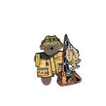 Scrapbook Customs - Rubber Stamp - Bear and Bunny Fisherman Set