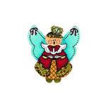 Scrapbook Customs - Rubber Stamp - Christmas Choir Angel