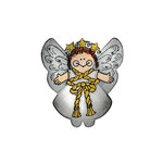 Scrapbook Customs - Rubber Stamp - Nativity Angel