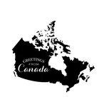 Scrapbook Customs - Rubber Stamp - Greetings - Canada