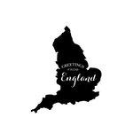 Scrapbook Customs - Rubber Stamp - Greetings - England