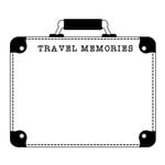 Scrapbook Customs - Rubber Stamp - Suitcase Travel Memories