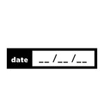 Scrapbook Customs - Rubber Stamp - Date