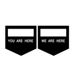 Scrapbook Customs - Rubber Stamp - You Are Here We Are Here