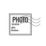 Scrapbook Customs - Rubber Stamp - Photo Date and Location