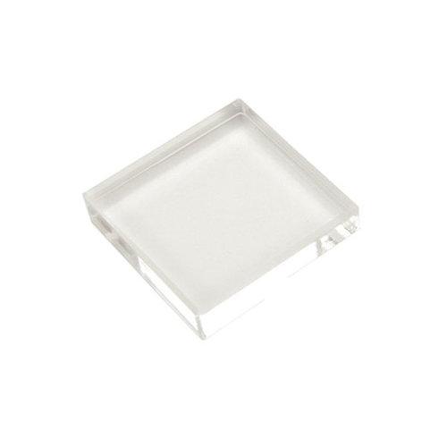 Scrapbook Customs - Clear Acrylic Block - 1.25 x 1.25