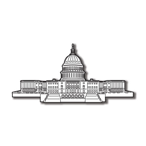 Scrapbook Customs - United States Collection - Washington DC - Laser Cut - US Capitol Building