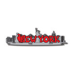Scrapbook Customs - United States Collection - New York - Laser Cut - Word and Background