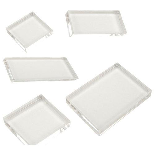 Scrapbook Customs - Clear Acrylic Block - Set of 5