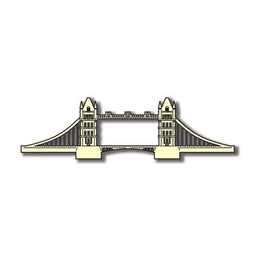 Scrapbook Customs - World Collection - England - Laser Cut - Tower Bridge