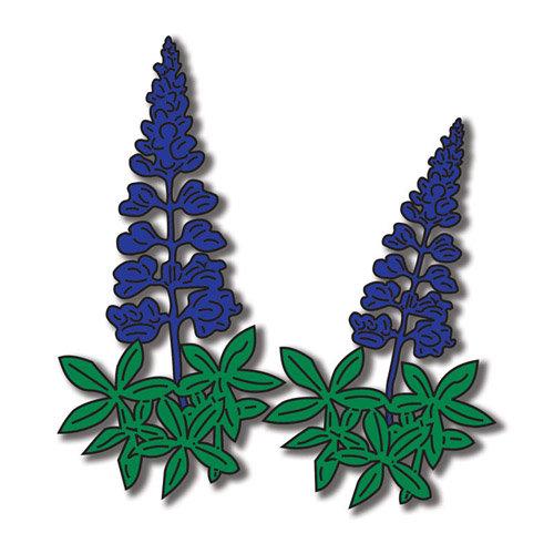 Scrapbook Customs - United States Collection - Texas - Laser Cut - Blue Bonnet