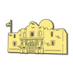 Scrapbook Customs - United States Collection - Texas - Laser Cut - Alamo