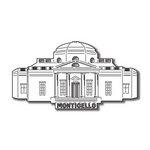 Scrapbook Customs - United States Collection - Virginia - Laser Cut - Monticello
