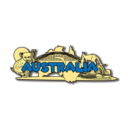Scrapbook Customs - World Collection - Australia - Laser Cut - Word and Background