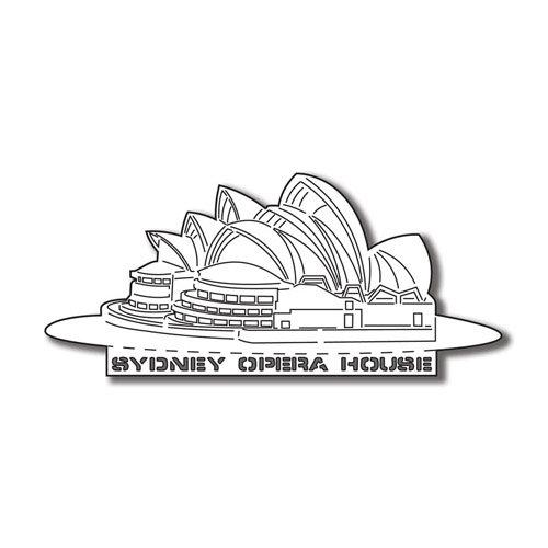 Scrapbook Customs - World Collection - Australia - Laser Cut - Sydney Opera House