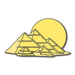 Scrapbook Customs - World Collection - Egypt - Laser Cut - Pyramids