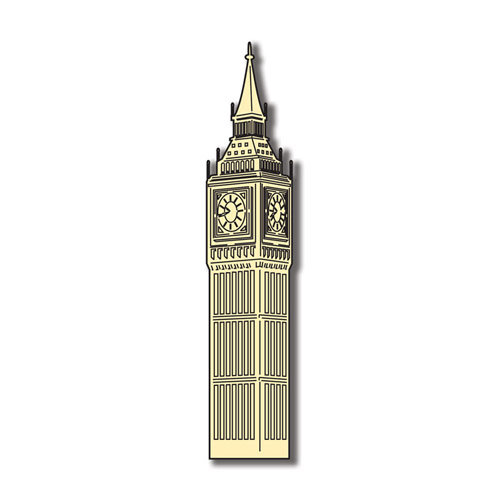 Scrapbook Customs - World Collection - England - Laser Cut - Big Ben Clock