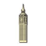 Scrapbook Customs - World Collection - England - Laser Cut - Big Ben Clock