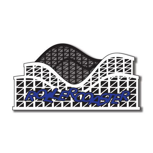 Scrapbook Customs - United States Collection - Florida - Laser Cut - Roller Coaster 1