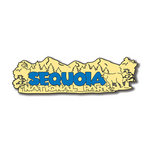 Scrapbook Customs - United States Collection - California - Laser Cut - Sequoia National Park - Word and Background
