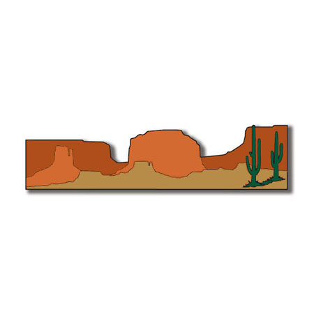 Scrapbook Customs - United States Collection - Arizona - Laser Cut - Desert Border