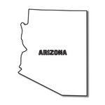 Scrapbook Customs - United States Collection - Arizona - Laser Cut - State Shape