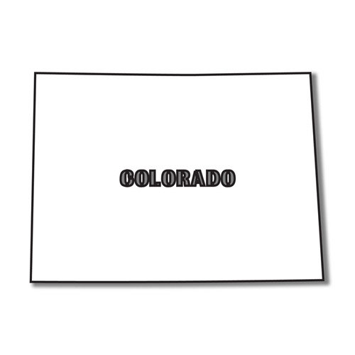 Scrapbook Customs - United States Collection - Colorado - Laser Cut - State Shape