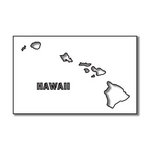 Scrapbook Customs - United States Collection - Hawaii - Laser Cut - State Shape