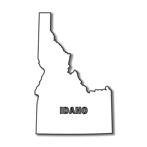 Scrapbook Customs - United States Collection - Idaho - Laser Cut - State Shape