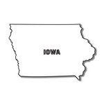 Scrapbook Customs - United States Collection - Iowa - Laser Cut - State Shape