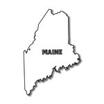 Scrapbook Customs - United States Collection - Maine - Laser Cut - State Shape