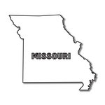 Scrapbook Customs - United States Collection - Missouri - Laser Cut - State Shape