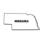 Scrapbook Customs - United States Collection - Nebraska - Laser Cut - State Shape