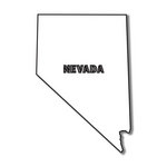 Scrapbook Customs - United States Collection - Nevada - Laser Cut - State Shape