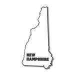Scrapbook Customs - United States Collection - New Hampshire - Laser Cut - State Shape
