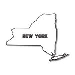 Scrapbook Customs - United States Collection - New York - Laser Cut - State Shape