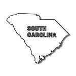 Scrapbook Customs - United States Collection - South Carolina - Laser Cut - State Shape
