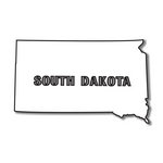 Scrapbook Customs - United States Collection - South Dakota - Laser Cut - State Shape
