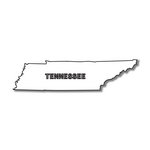 Scrapbook Customs - United States Collection - Tennessee - Laser Cut - State Shape
