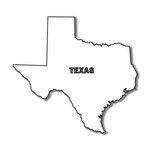Scrapbook Customs - United States Collection - Texas - Laser Cut - State Shape
