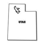 Scrapbook Customs - United States Collection - Utah - Laser Cut - State Shape