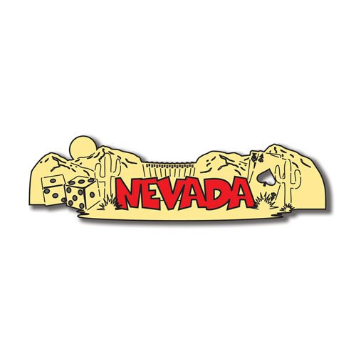 Scrapbook Customs - United States Collection - Nevada - Laser Cut - Word and Background