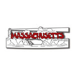 Scrapbook Customs - United States Collection - Massachusetts - Laser Cut - Word and Background