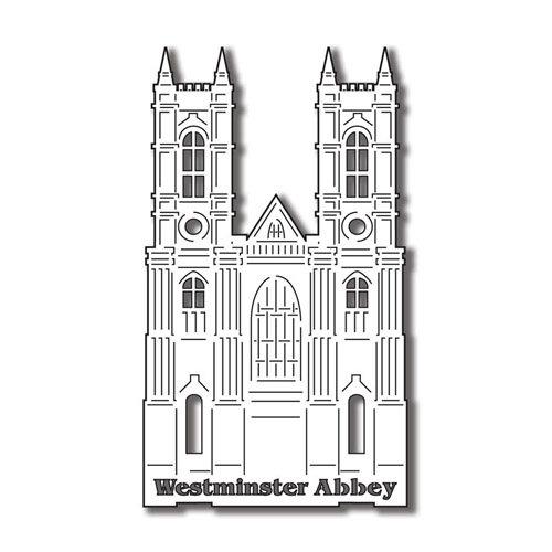 Scrapbook Customs - World Collection - England - Laser Cut - Westminster Abbey