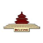 Scrapbook Customs - World Collection - China - Laser Cut - Word and Background - Beijing