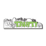 Scrapbook Customs - World Collection - Tahiti - Laser Cut - Word and Background