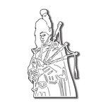 Scrapbook Customs - World Collection - Scotland - Laser Cut - Bag Piper